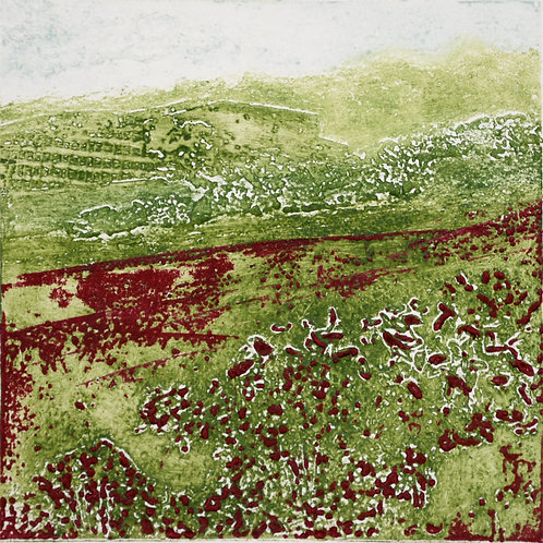 Spring Meadow I - Collagraph
