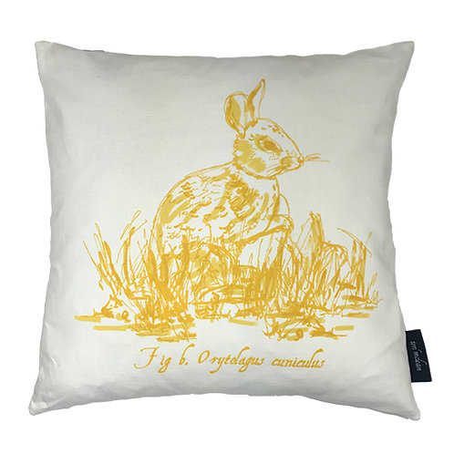 Rabbit Country Life Linen Union Cushion - Yellow