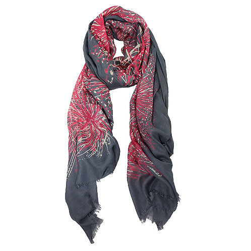 Firework Cashmere, Silk and Wool Scarf