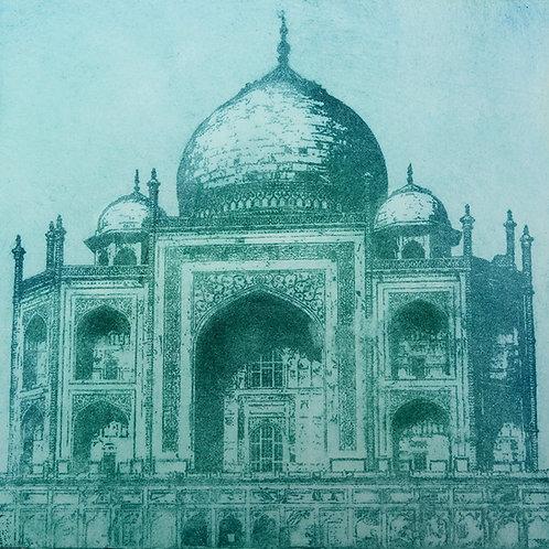 Taj Mahal I Etching - Aquatint Etching
