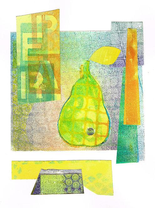 Pear Squared - Linocut