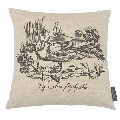 Duck Country Life Linen Cushion - Beige