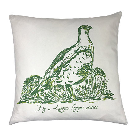 Grouse Country Life Linen Union Cushion - Green