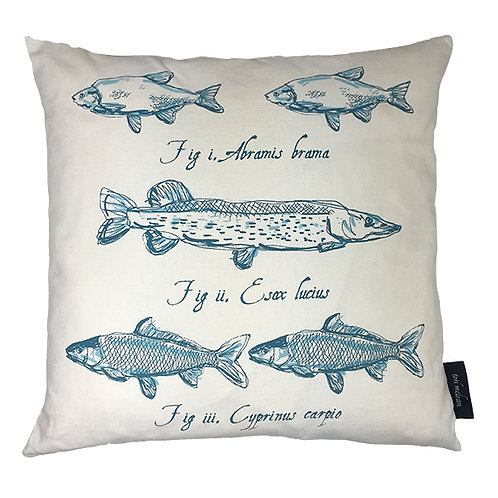 Pike Country Life Linen Union Cushion - Teal