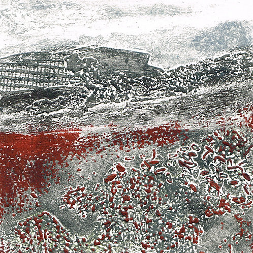 Winter's Meadow I - Collagraph