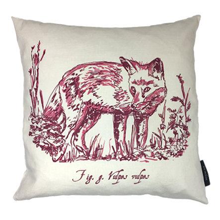 Fox Country Life Linen Union Cushion - Magenta