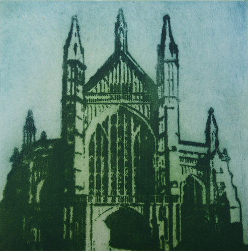 Winchester Cathedral VI - Aquatint Etching