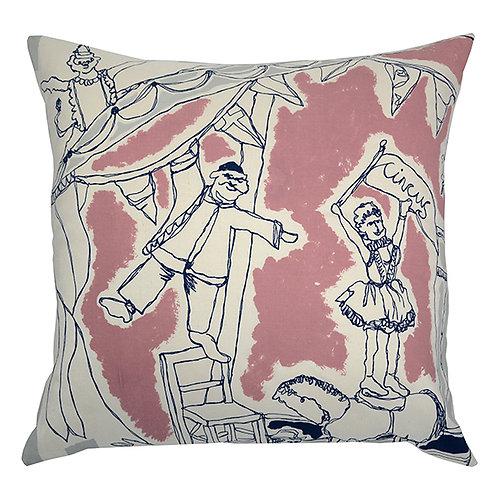 Bailey Silk Circus Cushion - Pink