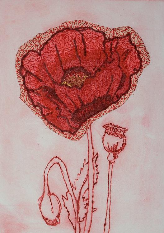 Poppy I - Drypoint