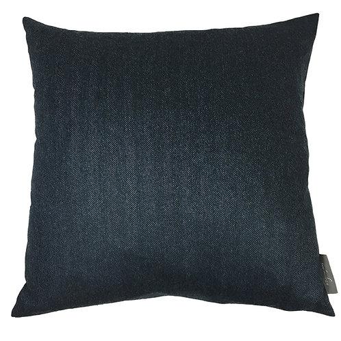 Country Life Lambswool Herringbone Cushion - Navy