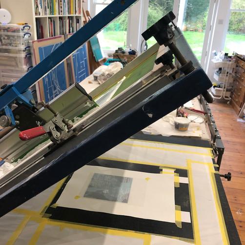 Tori McLean's Screen Print Bench