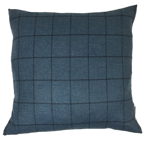 Country Life Lambswool Check Cushion - Dark Teal