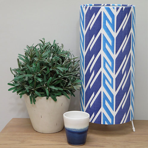 Butterfly Stripe Tube Table Lamp - Prussian & Royal Blue