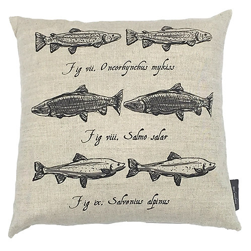 Salmon Country Life Linen Cushion - Beige