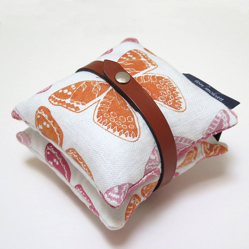 Hand Printed Leather Tied Lavender Bag Set