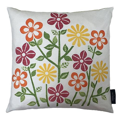 Flower Stems Cushion - Lime
