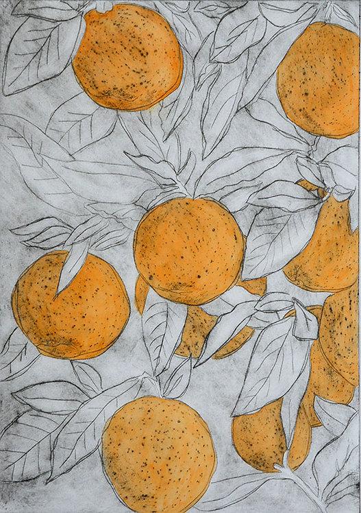 Oranges 'Bright Orange' - Drypoint