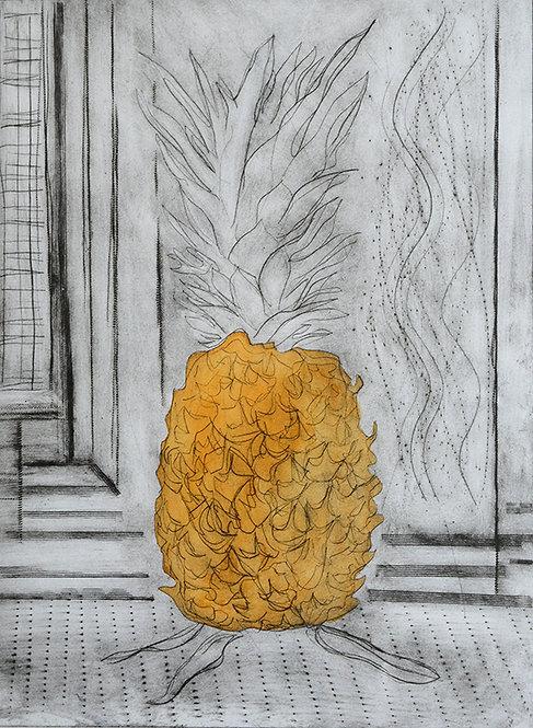 Pineapple 'Orange' - Drypoint
