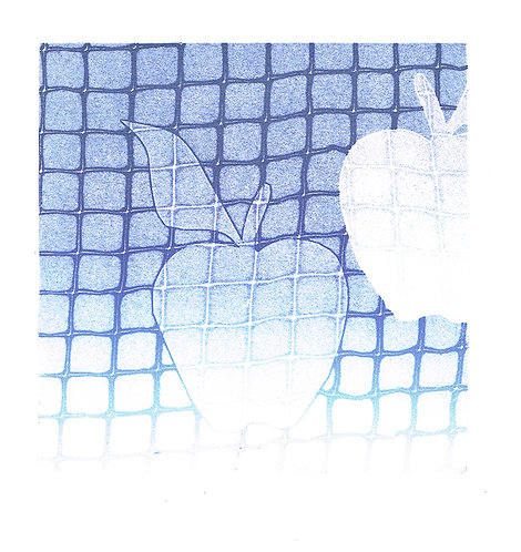 Apples Squared - Linocut