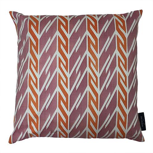 Butterfly Stripe Cushion  - Pink & Orange