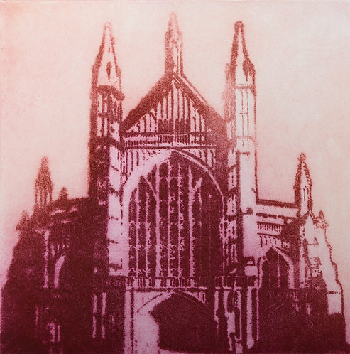 Winchester Cathedral I - Aquatint Etching