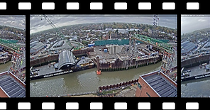 time-lapse image of harbour construction
