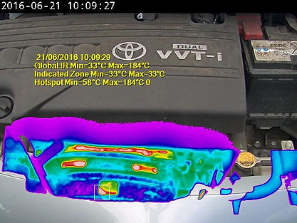 Augmented reality thermal image overlay