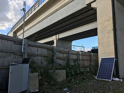 solar powered CCTV system on a construction site