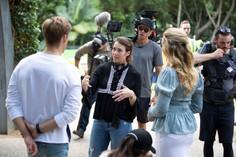Director-Hayley-MacFarlane-on-set-of-Swi