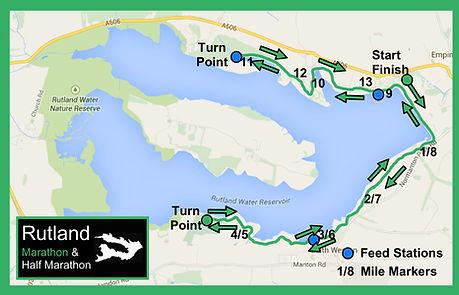 Rutland Half Marathon course map