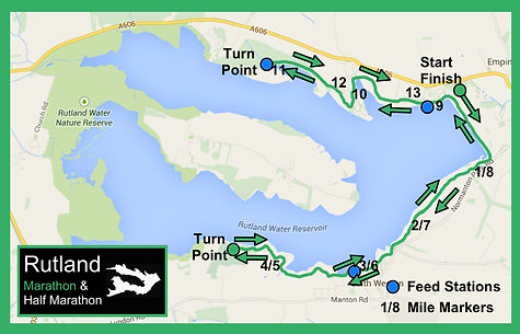 Rutland Half Marathon course map