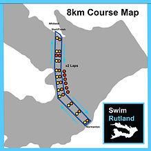 SwimRutland 8km Course Map