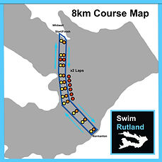 SwimRutland 8km Course Map