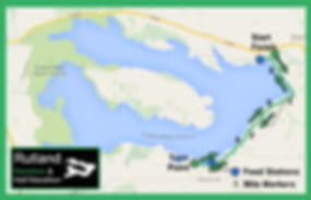 Rutland Team Marathon course map