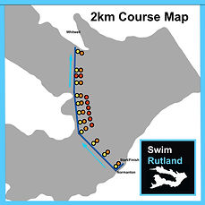 SwimRutland 2km Course Map