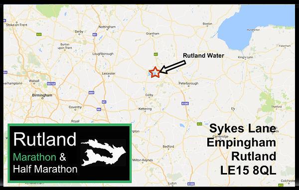 Rutland Marathon and Half Marathon location map and address details