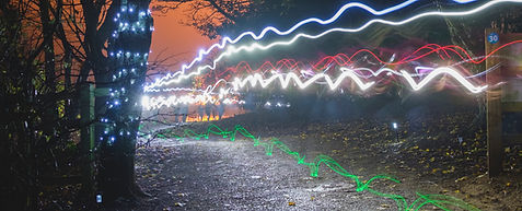 Rutland NightRun long exposure light show
