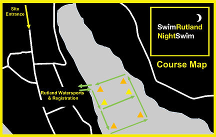 SwimRutland NightSwim course map