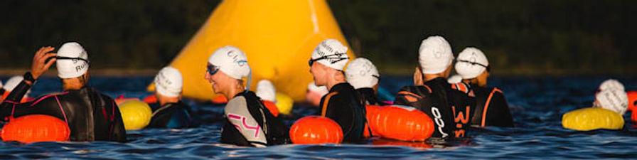 SwimRutland 4km start line swimmers