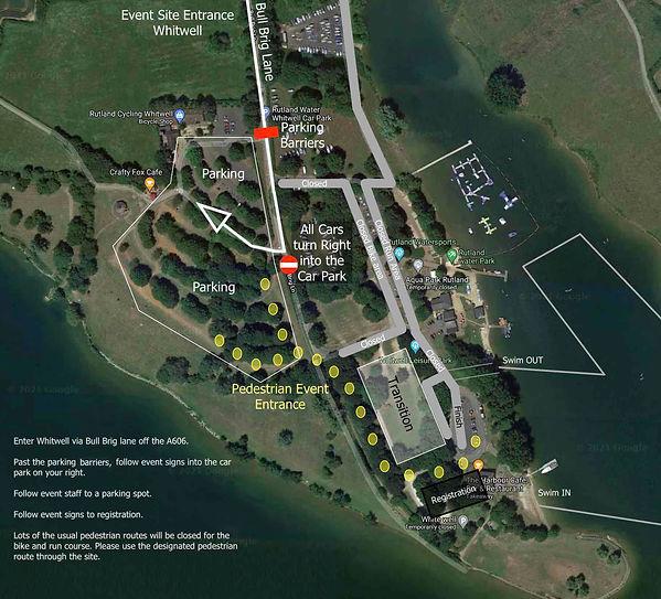 Dambuster triathlon event site map