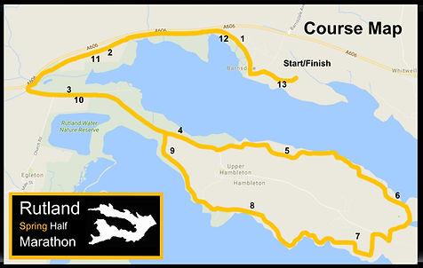 Rutland Spring Half Marathon Course Map