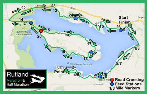 Rutland Marathon course map