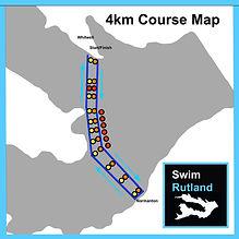 SwimRutland 4km Course Map