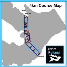 SwimRutland 4km Course Map
