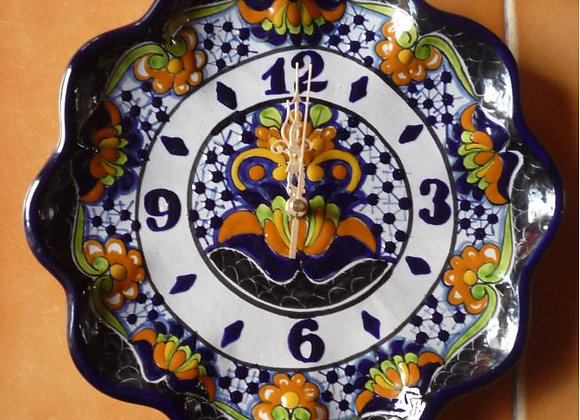 Reloj Flor ondulado de 20 cm