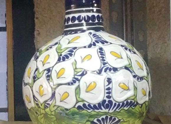 Botella Botijón Grande y Vaso para agua.