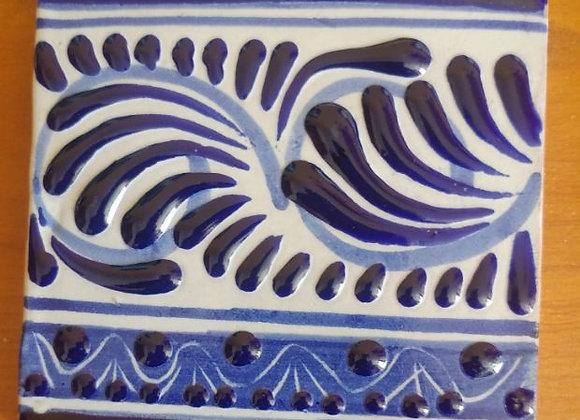 Cenefa con decorado Azul y Blanco