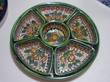 Girasol Tradicional Borde Verde