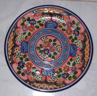 Florecitas Rosa-Borde Azul