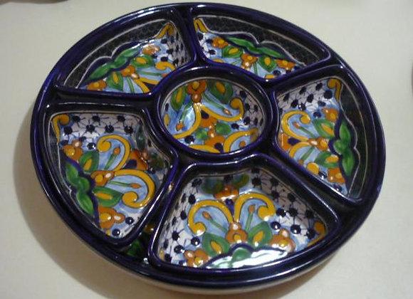 Charola para Botanas 7 piezas